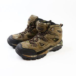 Red Head Camo Leather Brown Hiking Boot